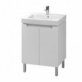 MODO шкафчик под умывальник 60 см с умывальником мебельным 60 см белый