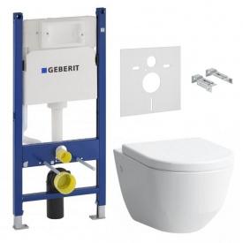 Комплект PRO Rimless унитаз подвесной + сиденье с системой плавного опускания H 8969513000001 B + GEBERIT инсталляция