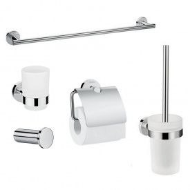 LOGIS набір аксесуарів гачок полотенцедержатель тримач туалетного паперу склянку туалетна щітка
