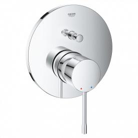 ESSENCE смеситель для ванной с переключ на два потребителя скрытого монтажа хром
