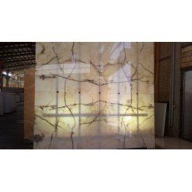 Оникс 2х160х220 см Белый с коричневыми прожилками