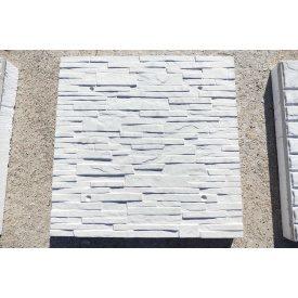 Фасадна термопанель Поліфасад Сланцева кладка 55х500х500 мм сіра