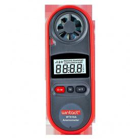 Анемометр цифровой 0,7-30 м/с -10-45°C WINTACT WT816A