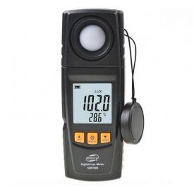 Измеритель освещенности люксметр + термометр USB 200000 Lux BENETECH GM1020