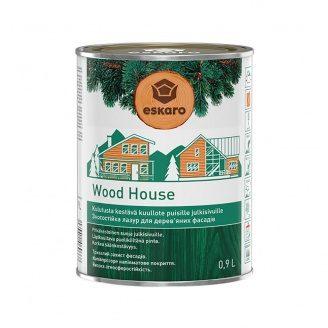 Зносостійка лазур для дерев`яних фасадів Eskaro Wood House 0,9 л