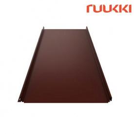 Фальцева покрівля Ruukki Classic C Polyester RM Каштан (RR887)