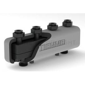Гидравлический коллектор Tiemme из стали для теплоцентрали с изоляцией и крепежными кронштейнами 2 контура 3 м3/ч 80x80 (5570001)