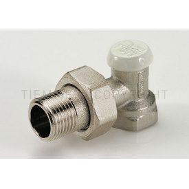 Угловой запорный вентиль с соединением для железных труб. Tiemme EXCEL 1/2 резьба внешняя / внутренняя ( 3230001 )