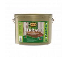 Масло для террас Aura Wood Terrace 9 л серый
