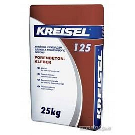 Клей для газобетона и пеноблоков Kreisel 125