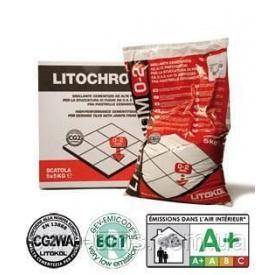 Цементна затирка LITOCHROM 0-2 для швів шириною до 2 мм