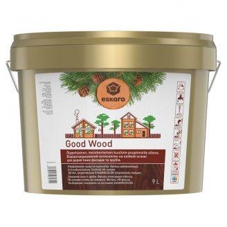 Водоразбавляемый антисептик Good Wood на масляной основе для деревянных фасадов и срубов 9 л
