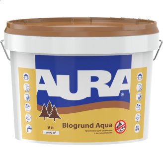 Грунтовка для древесины с антисептиками Aura Biogrund Aqua 2,5 л
