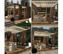 Будівництво сучасної дерев`яної альтанки під ключ