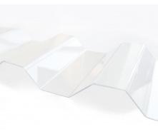 Профилированный монолитный поликарбонат Borrex 0.8 мм 105х300 см прозрачный
