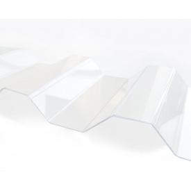 Профільований монолітний полікарбонат Borrex 0.8 мм 105х300 см прозорий