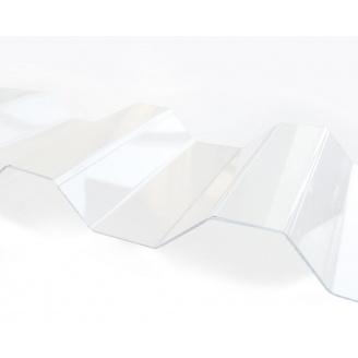 Профилированный монолитный поликарбонат Borrex 0.8 мм 105х200 см прозрачный