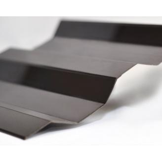 Профилированный монолитный поликарбонат Borrex 0.8 мм 105х600 см бронза