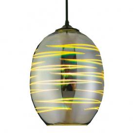 Світильник підвісний LASER Е27 3D-ефект овальний