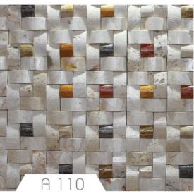 Мозаїка з травертину біла 2х30х30 см