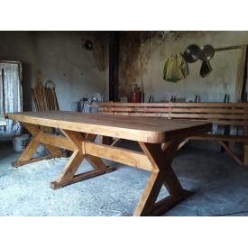 Комплект для сада из сосны стол 3000х900+2 скамейки