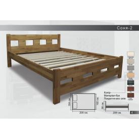Дерев`яне ліжко бук 206х164х86 см