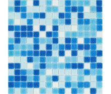 Мозаїка скляна Stella di Mare R-MOS B1131323335 мікс блакитний-5 на сітці 327x327x4 мм