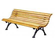 Деревянная скамейка ИГ №4 2000 мм со спинкой на металлических ножках