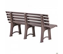 Пластиковая скамейка АМФ Atena 1500х510х730 мм коричневая-тауп
