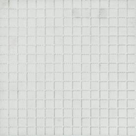 Мозаика стеклянная Stella di Mare R-MOS B12 белая на сетке 327х327х4 мм