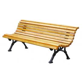 Деревянная скамейка №4 2000 мм со спинкой