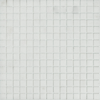 Мозаїка скляна Stella di Mare R-MOS B12 біла на сітці 327х327х4 мм