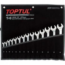 Набор комбинированных ключей 8-24 мм TOPTUL 14 шт Dynamic GPAQ1402