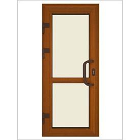 Двері вхідні ламіновані ПВХ 900х2100 мм Золотий Дуб