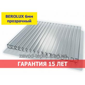 Стільниковий полікарбонат 6 мм BEROLUX прозорий