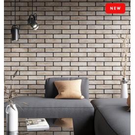 Керамічна плитка Golden Tile BrickStyle The Strand Brown 60х250 мм коричневий (087120)