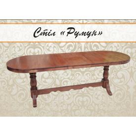 Обеденный большой стол из массива дерева Отаман раздвижной 2000 мм