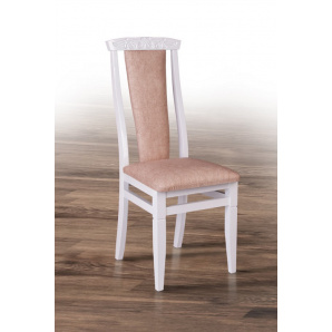 Класичний білий стілець з м'якою сидушкою спинкою Чумак 2 білий