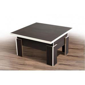 Розкладний стіл трансформер ДЕЛЬТА дсп молочна кромка 750x750x450