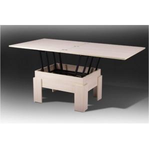 Розкладний стіл трансформер ДЕЛЬТА дсп молочний 750x750x450