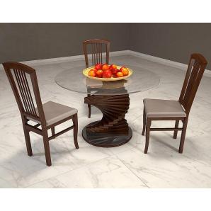 Обідній стіл з загартованим склом Шедевр 110 см