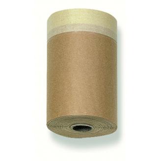 Захисний папір з малярською стрічкою CoverQuick 18 см 20 м