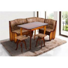 Комплект кухонний Канзас М'який куточок, стіл, табуретки 1500x1150