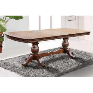 Великий обідній розсувний стіл Граф з масиву дерева горіх 2000/500х1000