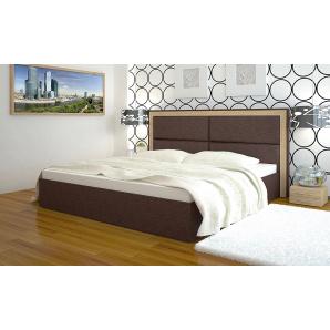 Двоспальне ліжко з м'яким узголів'ям Міленіум 160 см