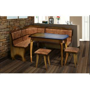 Комплект кухонний Далас М'який куточок, стіл, табуретки 1500x1150
