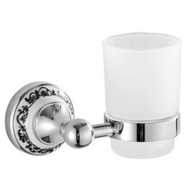Настенный стеклянный стакан (серебро) HI-NON