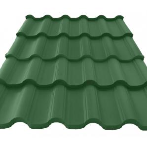 Металочерепиця Атіка 0,45 мм зелена (Німеччина)