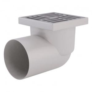 Трап ANI Plast TA1112 горизонтальний з нержавіючої сіткою 150х150