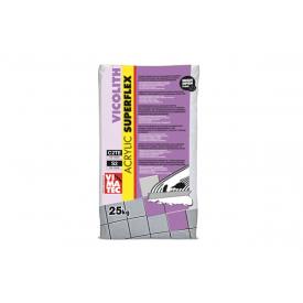VICOLITH ACRILIC SUPERFLEX white 25кг эластичный клей для плитки